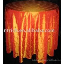 Tafetá Pintuck toalha de mesa, tampa de tabela do Hotel/banquete