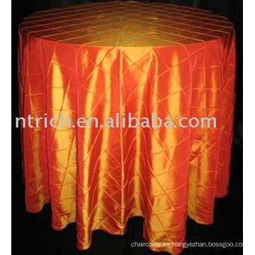 Tafetán del pintuck del mantel, cubierta de tabla del banquete del Hotel
