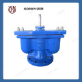 Three function double orifice air valve with stop valve