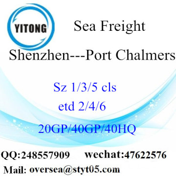 Shenzhen Port Sea Freight Shipping ke Port Chalmers