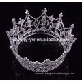 fashion metal silver plated full round big pageant boys crowns