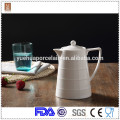 1000ml wholesale white ceramic coffee milk pot / turkish tea pot