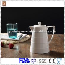 1000 ml en gros pot de lait en céramique en céramique blanche / pot de thé turc