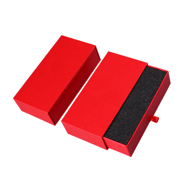 Red Fancy Paper Cardboard Rigid Gift Box