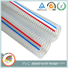 Small Diameter Flexible Steel Wire Reinforced Spring PVC Hose Pipe