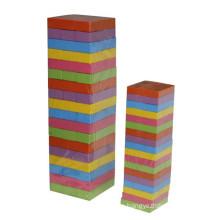 54 Stück Bunte hölzerne Jenga Puzzle Spiel