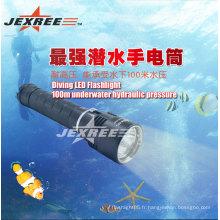 Lampe de poche enfoncée Lampe de plongée sous-marine de 100 m