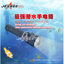 laser flashlight 100m underwater led diving flashlight