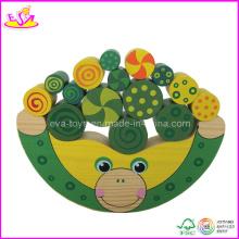 Frog Shape Wooden Children Balance Block Game (W11F010)