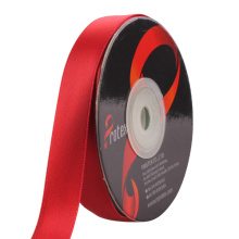 Red Satin Ribbon Single Gesicht