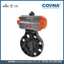 Válvula de mariposa UPVC / CPVC con actuador neumático