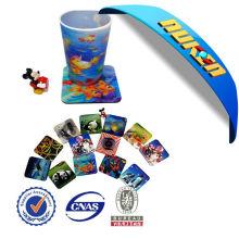 Customized Lenticular 3D EVA Cup Coaster
