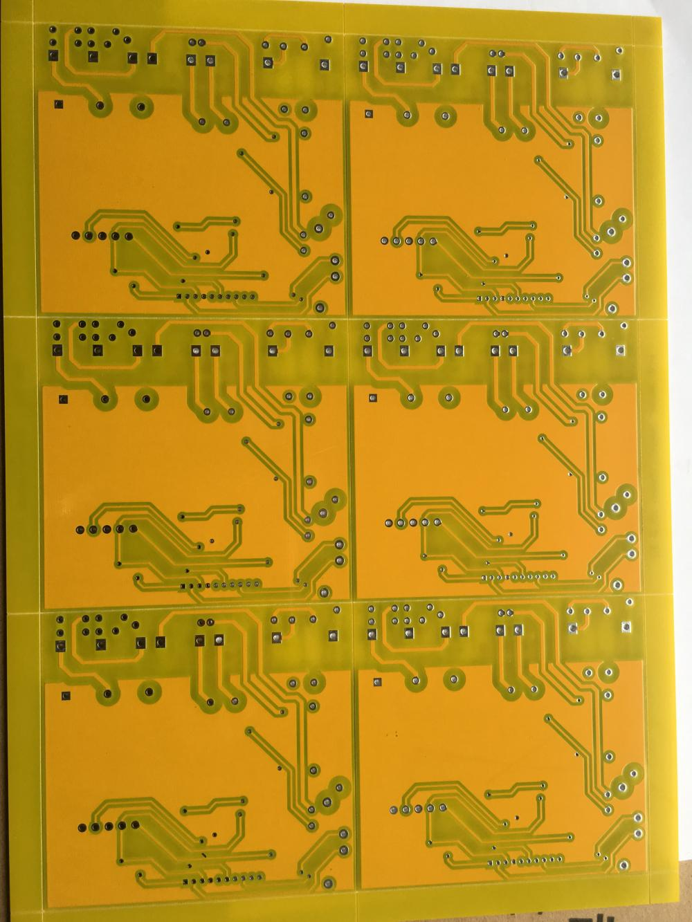 2 layer Yellow solder PCB