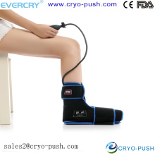 Medical ice pack with bag and air pump for ankle compression cold therapy