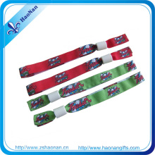 Festival Custom RFID Fabric Polyester Wristband for Event