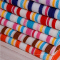 Polyester Colorful Stripe Terry Towel Cloth Fabric for Home