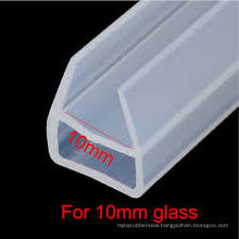Transparent Silicone Shower Glass Door Rubber Seal for 6mm, 10mm Glass