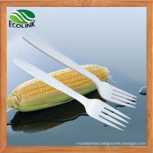 Disposable Biodegradable Cornstarch Fork 150mm