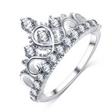 Anillo de compromiso de boda con corona de Tiara para mujer (CRI01005)