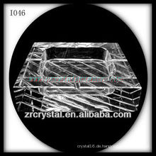Quadratischer Kristallklarer Aschenbecher K9