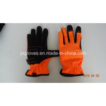 Synthetic Leather Glove-Working Leather Glove-Cheap Glove-Labor Glove-Machanic Glove