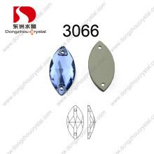 Mais novo Disposição Navette Capri Blue Sew on Stone for Garment