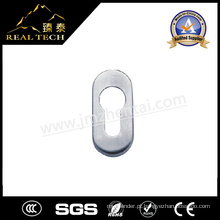 Oval oblíquo Inox Door Handle Rosettes Escutcheon