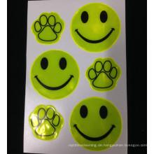 Promoitonal cute guide footprint gute selbstklebende Prisma reflektierende Aufkleber für Supermarkt