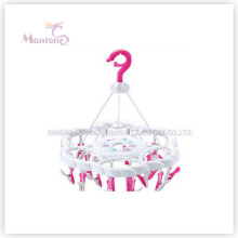 PP Plastic Round Hanger with 24PC Clips (Dia. 31 cm)