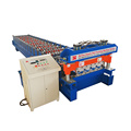 Color steel glazed roofing step tile machine for india