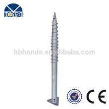 Feuerverzinkter Stahl Q235 Bodenschraube mit Dreieckflansch