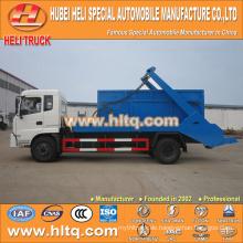 DONGFENG 8cbm 170hp 4x2 schwingender Arm Müllwagen überspringen Loader Müllwagen Fabrik direkt heißer Verkauf in China