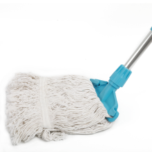 Industrial looped end and Wide Tail wet and dry use Cotton Floor Cleaning Mop