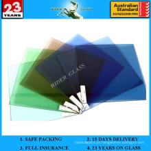 1.3mm-19mm Clear Blue Bronze Green Grey Building Glass