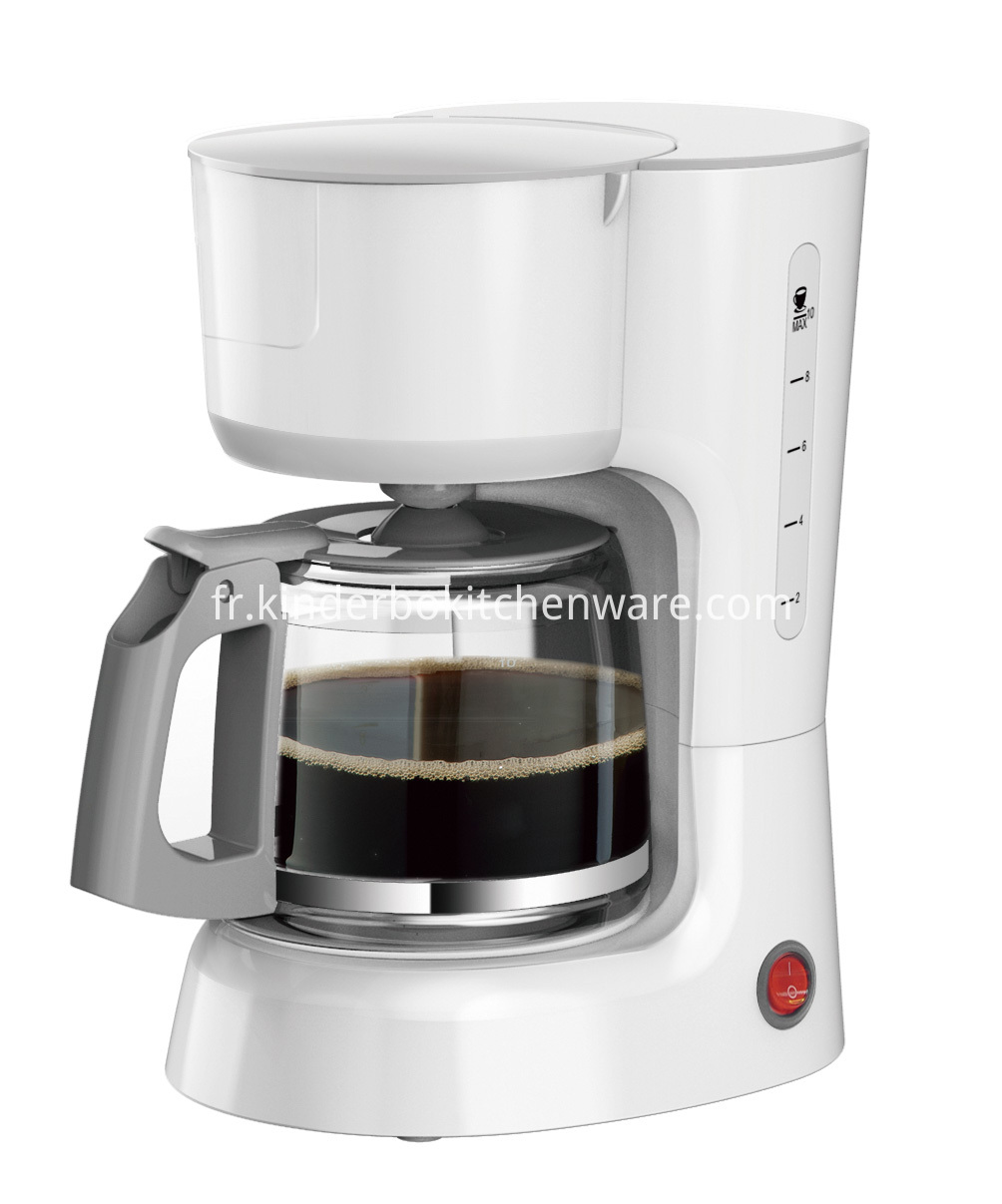 Home Automatic Coffee Maker Plastic Electric Coffee Maker Coffee Machine