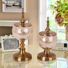 Pièce maîtres de table de mariage Vase en verre élégant et généreux pour vitrine