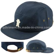 Fieltro de apliques de metal hebilla casquillo de casco de gorro de casco (TMFL6653)
