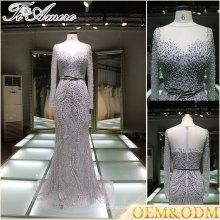 Vestidos de noiva da China Vestidos de noite formal Vestidos de noite Vestido de noite de prata e cor