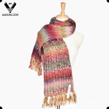 Мода Исландия Пряжа Многоцветный Космические окрашенные трикотажные шарф