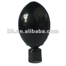Hot sell beautiful cheap plastic curtain rod finials