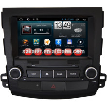 gps original do dvd do carro para o outlander de mitsubishi, Bluetooth, AIRPLAY, MIRROR-CAST, DVR, jogos, zona dupla, controle de volante