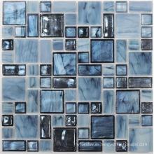 Mosaico de cristal azul para la decoración del cuarto de baño