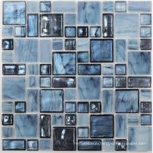 Голубая хрустальная мозаика для украшения ванной комнаты