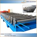 Roofing Sheet Fliesen Wellpappe Eisen Blechumformung Making Machine / Farbe Stahl Dachplatte Forming Line