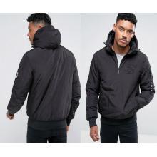 Men′s Black Zipper Collar Hoody