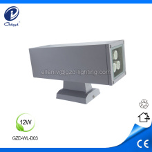 Lámpara de pared led impermeable 12w para exteriores cuadrado
