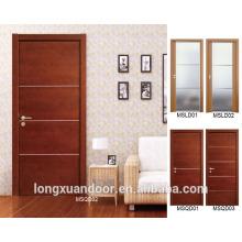 PU pintura com folheado natural design moderno porta de folheto design de porta indiana