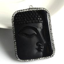 Hot Sale Fashion Buddha Precious Stone Gemstone Jewelry Pendant Necklace DIY