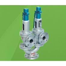 Válvula de seguridad de elevación completa de doble puerto y doble resorte A43h