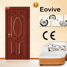 superficie acabada MDF talla diseños de la puerta principal de madera de la puerta